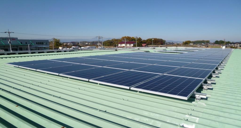 壬生センターの太陽光パネル